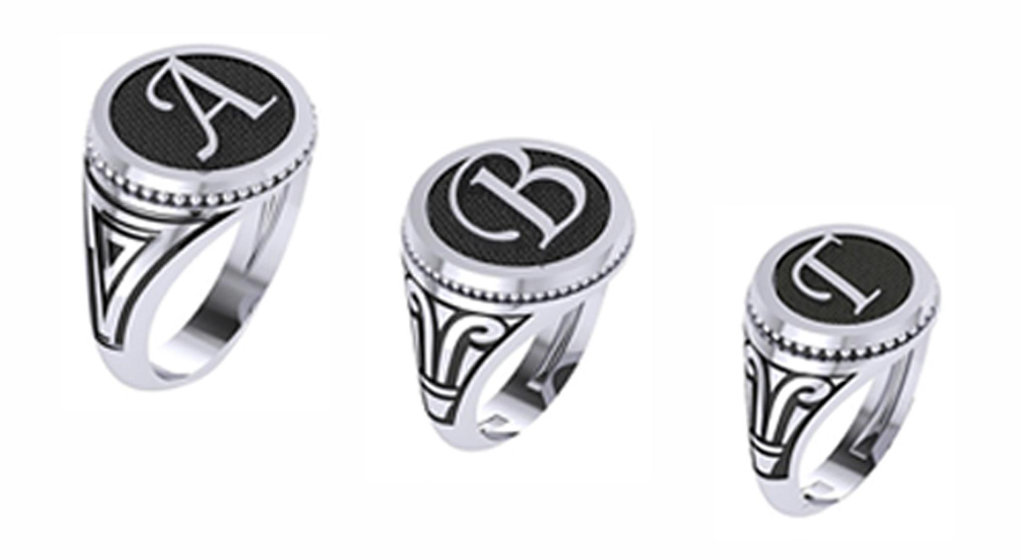 Δαχτυλίδια Σεβαλιέ με Μονογράμματα - Δώρα για την Ονομαστική Εορτή