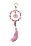 διακοσμητικό γούρι σπιτιού ''ροζ ονειροπαγίδα'' από ορείχαλκο με ροζ σμάλτο / 2ΔΙ0255