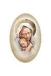 εικόνα Παναγία Βρεφοκρατούσα, oval, ζωγραφισμένη σε ξύλο, με ασήμι / 2ΕΙ0189