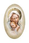 εικόνα Παναγία Βρεφοκρατούσα, oval, ζωγραφισμένη σε ξύλο, με ασήμι / 2ΕΙ0230