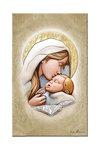 εικόνα Παναγία Γλυκοφιλούσα, ζωγραφισμένη σε ξύλο με ασήμι / 2ΕΙ0233