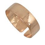Αρχαϊκό Φαρδύ Σφυρήλατο Βραχιόλι 53 / Ασημένιο, χειροποίητο, ροζ επιχρυσωμένο
