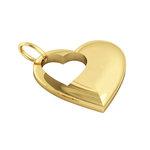 Μενταγιόν Καρδιά με εσωτερικό κενό Καρδούλα / Ασημένιο, χειροποίητο, επιχρυσωμένο