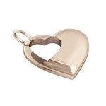 Μενταγιόν Καρδιά με εσωτερικό κενό Καρδούλα / Ασημένιο, χειροποίητο, ροζ επιχρυσωμένο