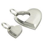 Μενταγιόν Καρδιά Καρδούλα / Ασημένιο, χειροποίητο, επιπλατινωμένο