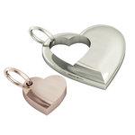 Μενταγιόν Καρδιά Καρδούλα / Ασημένιο, χειροποίητο, επιπλατινωμένο και ροζ επιχρυσωμένο