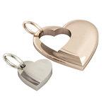 Μενταγιόν Καρδιά Καρδούλα / Ασημένιο, χειροποίητο, ροζ επιχρυσωμένη και επιπλατινωμένη