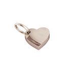 Μενταγιόν Καρδούλα μεσαία / Ασημένιο, χειροποίητη,  ροζ επιχρυσωμένη