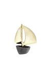 διακοσμητικό δώρο γραφείου - σπιτιού, από ορείχαλκο, βάρκα με πανιά / 2ΚΡ0003