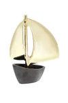 διακοσμητικό δώρο γραφείου - σπιτιού, από ορείχαλκο, βάρκα με πανιά / 2ΚΡ0005