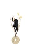 διακοσμητικό δώρο για το σπίτι και το γραφείο, εικοσάρα, από ορείχαλκο, δεμένη με εκρού κορδόνι μάτι και πέταλο / 2ΔΙ0331