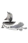 διακοσμητικό δώρο γραφείου - σπιτιού, από ορείχαλκο, βάρκα με πανιά, άγκυρα και σταυρό / 2ΔΙ0330