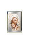 επάργυρη θρησκευτική εικόνα πίστης, Παναγία Βρεφοκρατούσα / 2ΕΙ0205 / 70 x 100 mm