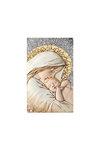 θρησκευτική καθολική εικόνα πίστης Παναγία Βρεφοκρατούσα, ανάγλυφη, σε ασήμι 925' με επίχρυσα στοιχεία / 2ΕΙ0213 / 100 x 230 mm
