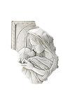 θρησκευτική εικόνα, κεραμική ανάγλυφη με νωπογραφία, Παναγία Γλυκοφιλούσα / 2ΕΙ0214 / 290 x 420 mm