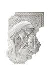 θρησκευτική εικόνα, κεραμική ανάγλυφη με νωπογραφία, Παναγία Βρεφοκρατούσα / 2ΕΙ0216 l/ 330 x 500 mm