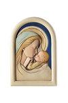 κεραμική εικόνα, ανάγλυφη με νωπογραφία, Παναγία Γλυκοφιλούσα / 2ΕΙ0219 / 160 x 230 mm