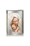 επάργυρη θρησκευτική εικόνα πίστης, Παναγία Βρεφοκρατούσα / 2ΕΙ0222 / 100 x 150 mm
