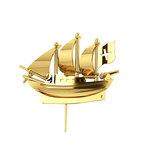 Επετειακή Καρφίτσα Γούρι 21 Θαλασσομάχο για τα 200 χρόνια από την Ελληνική Επανάσταση / Ασημένια, χειροποίητη, κίτρινη επιχρυσωμένη