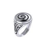 Γυναικείο Κλασικό Στρόγγυλο Δαχτυλίδι 3.03 με Σπείρα / Ασημένιο, χειροποίητο, δίχρωμο με πατίνα