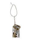μπρελόκ - κλειδοθήκη, χειροποίητο, ασημένιο, δίχρωμο, με παράσταση κλειδί / 2ΜΡ0058