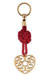 μπρελόκ - κλειδοθήκη από ορείχαλκο, σε σχέδιο ''καρδιά λαχούρι'' / 2ΜΡ0062