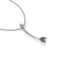 Νεανικό Μικρό Διακριτικό Μενταγιόν 1005 - βέλος / Ασημένιο, χειροποίητο, λευκό επιπλατινωμένο