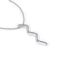Νεανικό Μικρό Διακριτικό Μενταγιόν 1006 - κύμα / Ασημένιο, χειροποίητο, λευκό επιπλατινωμένο