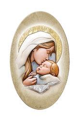 εικόνα Παναγία Γλυκοφιλούσα, oval, ζωγραφισμένη σε ξύλο, με ασήμι / 2ΕΙ0231
