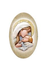 εικόνα Παναγία Γλυκοφιλούσα, oval, ζωγραφισμένη σε ξύλο, με ασήμι / 2ΕΙ0234