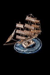 διακοσμητικό ασημένιο καράβι ''cutty sark''
