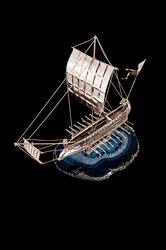 διακοσμητικό ασημένιο καράβι ''διήρης''
