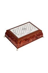 Αποθηκευτικό Κουτί για κοσμήματα και μικροαντικείμενα / Ασημένιο 2ΚΤ0024 - εξωτερική όψη