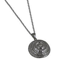 Αρχαϊκό Μενταγιόν 1006 σε σχήμα σπείρας / Ασημένιο, χειροποίητο, μαύρο επιροδιωμένο με σφυρήλατη επιφάνεια