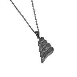 Αρχαϊκό Μενταγιόν 1022 / Ασημένιο, χειροποίητο, μαύρο επιροδιωμένο με σφυρήλατη επιφάνεια