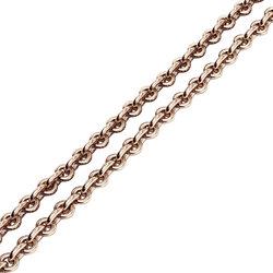 Αλυσίδα λαιμού ρολό 1.00 dm / Ασημένια, ροζ επιχρυσωμένη