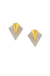 Διπλά Σκουλαρίκια Α575 / Ασημένια, χειροποίητα, δίχρωμα