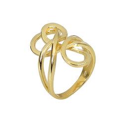 Μοντέρνο Δαχτυλίδι 41 σε σχήμα κόμπου / Ασημένιο, χειροποίητο, επιχρυσωμένο