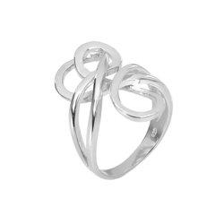 Μοντέρνο Δαχτυλίδι 41 σε σχήμα κόμπου / Ασημένιο, χειροποίητο, επιπλατινωμένο