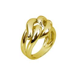Μοντέρνο Σεβαλιέ Δαχτυλίδι 47 / Ασημένιο, χειροποίητο, επιχρυσωμένο