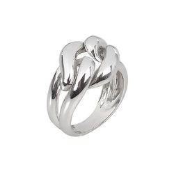 Μοντέρνο Σεβαλιέ Δαχτυλίδι 47 / Ασημένιο, χειροποίητο, επιπλατινωμένο