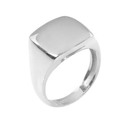 Μοντέρνο Σεβαλιέ Δαχτυλίδι 49 με Δυνατότητα Χάραξης / Ασημένιο, χειροποίητο, επιπλατινωένο