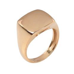 Μοντέρνο Σεβαλιέ Δαχτυλίδι 49 με Δυνατότητα Χάραξης  / Ασημένιο, χειροποίητο, ροζ επιχρυσωμένο
