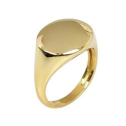 Μοντέρνο Σεβαλιέ Δαχτυλίδι 50 με Δυνατότητα Χάραξης  / Ασημένιο, χειροποίητο, επιχρυσωμένο
