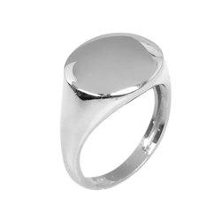 Μοντέρνο Σεβαλιέ Δαχτυλίδι 50 με Δυνατότητα Χάραξης  / Ασημένιο, χειροποίητο, επιπλατινωμένο