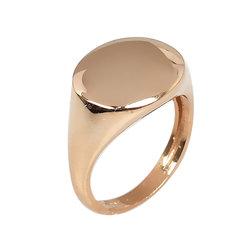 Μοντέρνο Σεβαλιέ Δαχτυλίδι 50 με Δυνατότητα Χάραξης  / Ασημένιο, χειροποίητο, ροζ επιχρυσωμένο