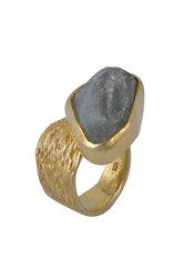 γυναικείο δαχτυλίδι, με aquamarine, χειροποίητο, σε ασήμι 925', επιχρυσωμένο / 2DA0305 logo