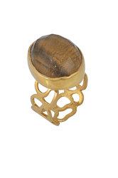 γυναικείο δαχτυλίδι, με quartz, χειροποίητο, σε ασήμι 925', επιχρυσωμένο / 2DA0306 logo