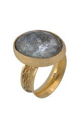 γυναικείο δαχτυλίδι, με aquamarine, χειροποίητο, σε ασήμι 925', επιχρυσωμένο / 2DA0307 logo