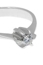 Δαχτυλίδι Μονόπετρο με brilliant 0.18 ct, χειροποίητο, σε λευκό χρυσό 18 καρατίων / 1DA2895 - λεπτομέρεια